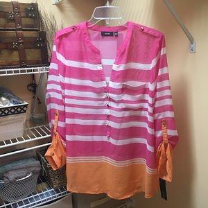 NWT Apt.9 Sheer long sleeves blouse